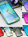 BIG D Touch View TPU Flip Full Body Case for Samsung Galaxy S6 Edge G9250(Assorted Colors)