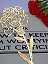 Carnation Design Golden Metal Bookmark