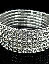 Bangles - Rhinestone, Imitation Diamond Vintage, Party, Bridal Bracelet Silver For Christmas Gifts / Wedding / Dailywear
