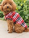 Cat Dog Shirt / T-Shirt Dog Clothes Plaid/Check Red Green Blue Cotton Costume For Pets Cosplay Wedding