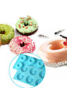 6-cell Donut Bundt Ring Silicone Baking Mould Tray Cake Mold,Baking Tool