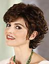 Sentetik Peruklar Bukle Sentetik Saç Peruk Kadın\'s Şort Bonesiz