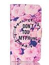 Pour Samsung Galaxy Coque Portefeuille Porte Carte Avec Support Clapet Coque Coque Integrale Coque Mot / Phrase Cuir PU pour SamsungCore
