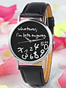 New Fashion Women Leather Wristwatches Letter Geneva whatever i'am late Word Watch Irregular Figure Quartz Watch Cool Watches Unique Watches