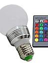 E26/E27 Круглые LED лампы 1 светодиоды Высокомощный LED Диммируемая На пульте управления RGB 100-130lm 2700-6500K AC 85-265V