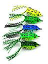 """5 pçs Isco Suave / Amostras moles Iscas Isco Suave / Amostras moles Sapo Verde Amarelo verde claro verde floresta Azul g/Onça,55 mm/2-1/4"""""""
