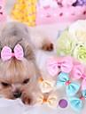 Gato Cachorro Acessorios de Cabelo Lacos Roupas para Caes Fantasias Casamento Amarelo Azul Rosa claro Ocasioes Especiais Para animais de