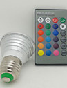 E26/E27 LED Spotlight 1 High Power LED 130 lm RGB 7000 K Remote-Controlled AC 85-265 V