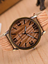 Simulation Wooden Quartz Men Watches Casual Wooden Color Leather Strap Watch Wood Male Wristwatch Cool Watches Unique Watches Fashion Watch
