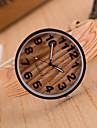 Жен. Модные часы Часы Дерево Кварцевый Кожа Группа Винтаж Коричневый Хаки