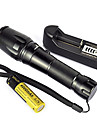 5 LED Flashlights/Torch LED 2000 Lumens 5 Mode Cree XM-L T6 Yes Adjustable Focus Impact Resistant Rechargeable Waterproof Strike Bezel