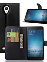 147 Mi Case Case Cover Wallet Card Holder with Stand Flip Full Body Case Solid Color Hard PU Leather for Xiaomi