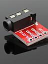 3.5mm module de son stereo de prise audio w / micro pour lecteur mp3 - rouge