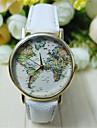 Hommes Montre Bracelet Quartz Polyurethane Bande Carte du monde Noir Blanc Vert Blanc Noir Beige Marron Vert clair