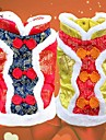 Cat / Dog Coat Red / Yellow Dog Clothes Winter Embroidered Wedding / Cosplay