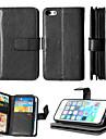 искусственная кожа + ТПУ задняя крышка бумажника много держателей карт + денежный слот + фоторамка магнитного дело телефона для iPhone 5 /