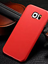 For Samsung Galaxy Case Ultra-thin Case Back Cover Case Solid Color PU Leather Samsung S6 edge / S6