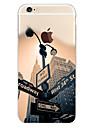 Pour Coque iPhone 6 Coques iPhone 6 Plus Motif Coque Coque Arrière Coque Paysage Urbain Flexible PUT pouriPhone 6s Plus/6 Plus iPhone