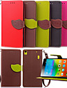 For Lenovo Case Card Holder / Wallet / with Stand / Flip Case Full Body Case Solid Color Hard PU Leather Lenovo