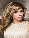 Perruque Synthetique Droit Avec Frange Avec Bangs Blond Femme Sans bonnet Cheveux Synthetiques