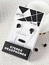 YX-112 In Ear Wired Headphones Plastic Mobile Phone Earphone with Microphone Headset