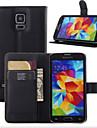 Capinha Para Samsung Galaxy Samsung Galaxy Capinhas Porta-Cartao / Carteira / Com Suporte Capa Protecao Completa Solido PU Leather para