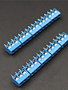 3 Pin 5.0mm Terminal Blocks Connectors - Blue (10-Piece)