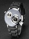 V6 Муж. Наручные часы Уникальный творческий часы Кварцевый Японский кварц С двумя часовыми поясами Pезина Группа Черный
