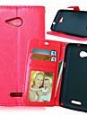 alta qualidade pu carteira de couro caso coldre de telefone celular para Sony Xperia e4 / e4g / M4 / m2 / z3 / z4 / z1 Mini / z3 mini-