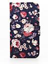 케이스 제품 Samsung Galaxy 삼성 갤럭시 케이스 카드 홀더 지갑 스탠드 플립 전체 바디 케이스 꽃장식 PU 가죽 용 S6 edge plus S6 edge S6