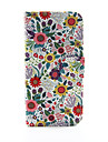 For iPhone 8 iPhone 8 Plus iPhone 6 iPhone 6 Plus Case Cover Wallet Card Holder with Stand Flip Pattern Full Body Case Flower Hard PU
