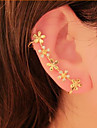 Women\'s Ear Cuffs Flower Style Flowers Floral Rhinestone Alloy Flower Daisy Jewelry For Party Daily