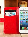 용 아이폰5케이스 카드 홀더 / 스탠드 케이스 풀 바디 케이스 단색 하드 인조 가죽 iPhone SE/5s/5