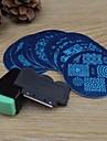 10шт Nail Art штамповка изображения шаблона плиты + 2 шт ногтей штамповки принтер (случайный цвет)