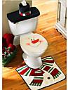 noel toilettes decoration housse de siege de toilette bonhomme de neige Santa