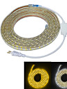 JIAWEN 5m Flexible LED Light Strips 300 LEDs 5050 SMD Warm White / White Waterproof / Cuttable / Decorative 220-240 V 1pc / IP65
