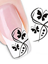 1 pcs Abstract / Cartoon / Fashion Water Transfer Sticker / 3D Nail Stickers Daily