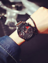 Men\'s Wrist Watch Casual Watch Leather Band Charm Black / SODA AG4