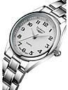 Женские Модные часы Кварцевый Защита от влаги Нержавеющая сталь Группа Серебристый металл