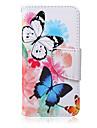 Butterflies Pattern PU  Material Card Bracket  Case for iPod Touch 5  /6