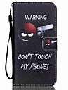 For Samsung Galaxy Case Wallet / Card Holder / with Stand / Flip Case Full Body Case Word / Phrase PU Leather SamsungS6 edge plus / S6