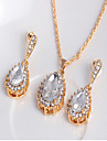 May Polly The explosion of Natural Freshwater Pearl Pendant Necklace Earrings Set