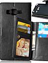 Case Kompatibilitás Samsung Galaxy Samsung Galaxy tok Kártyatartó Pénztárca Állvánnyal Flip Héjtok Tömör szín PU bőr mert J5 J1 Grand