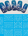 4 pcs 3D Nail Stickers Nail Jewelry nail art Manicure Pedicure Lovely Fashion Daily / PVC(PolyVinyl Chloride)