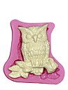DIY 3D Cute Owl Shape Chocolate Mould Cake Sugarcraft Silicone Fondant Mold