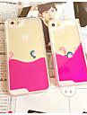 iphone5c 재미 사랑스러운 커플 돌고래 액체 다시 무덤 투명 명확한 PC 하드 커버