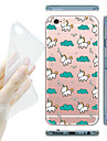 Pour Coque iPhone 6 Coques iPhone 6 Plus Transparente Motif Coque Coque Arriere Coque Dessin Anime Flexible PUT pouriPhone 7 Plus iPhone