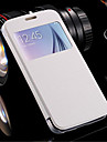 View Window Leather Flip Transparent Clear Back Cover Case For Samsung Galaxy S6 Edge
