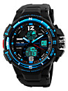Men's Wrist watch Sport Watch Quartz Alarm Calendar / date / day Chronograph Water Resistant / Water Proof LED Dual Time Zones PU Band