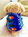 Dog Shirt / T-Shirt Dog Clothes Breathable Holiday Fashion Floral / Botanical Blue Costume For Pets